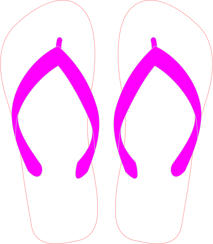 Flipflops with Pink Strap