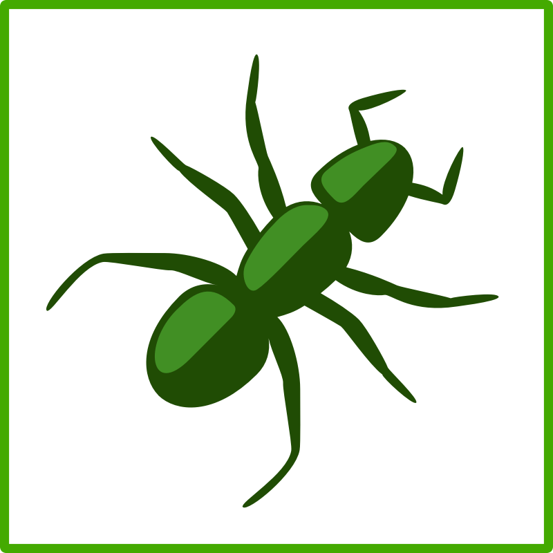 Eco green ant icon
