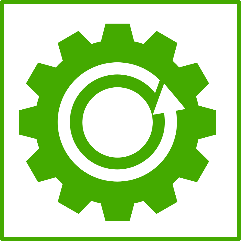 eco green recycling icon