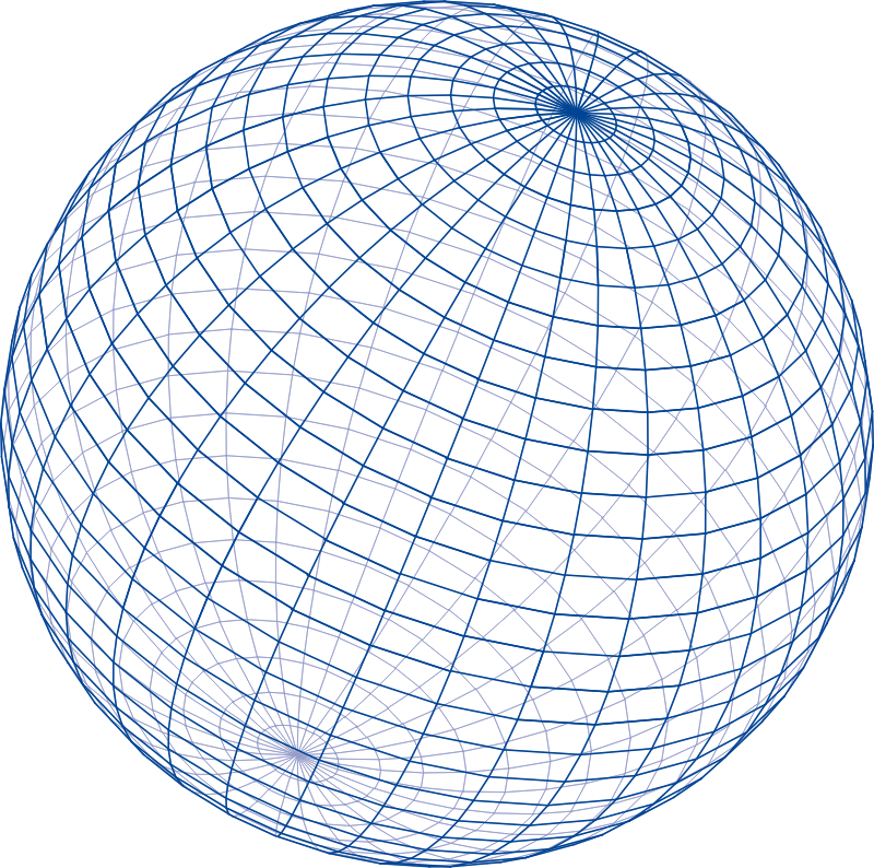 Blue grid sphere