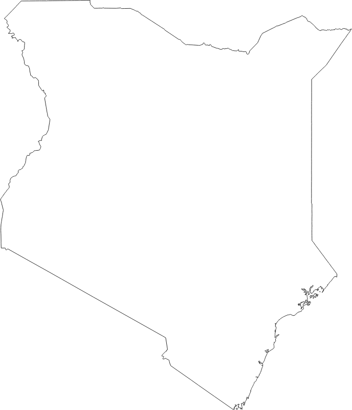 Kenya outline map