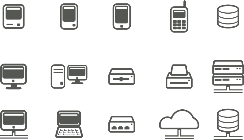 Computer & network icons