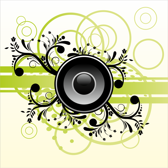 Speaker on abstract background