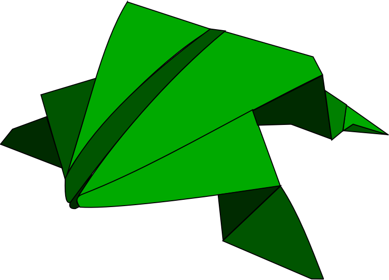 Origami - jumping frog