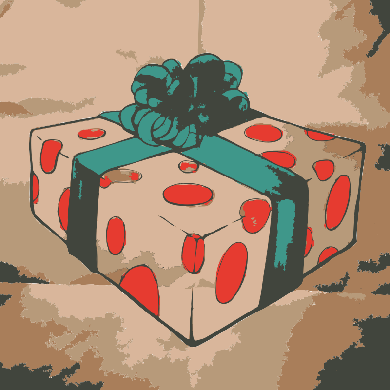 Colored Christmas Present