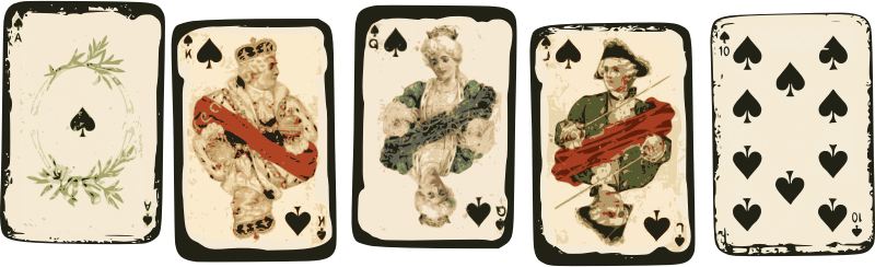 Royal Flush - Poker Cards