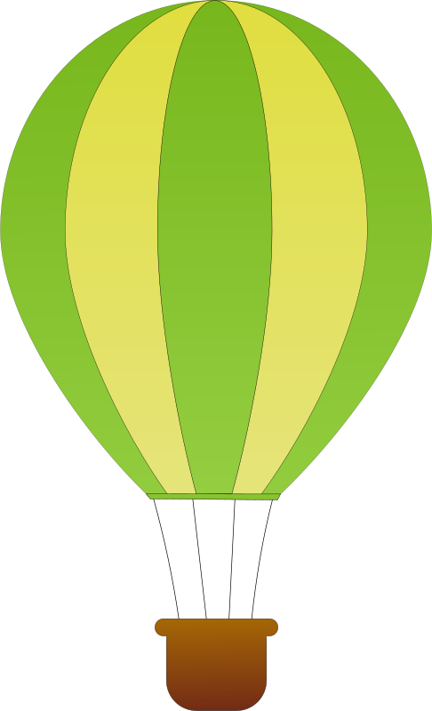 Vertical Striped Hot Air Balloons 1