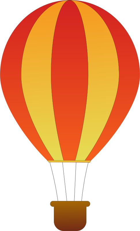 Vertical Striped Hot Air Balloons 2