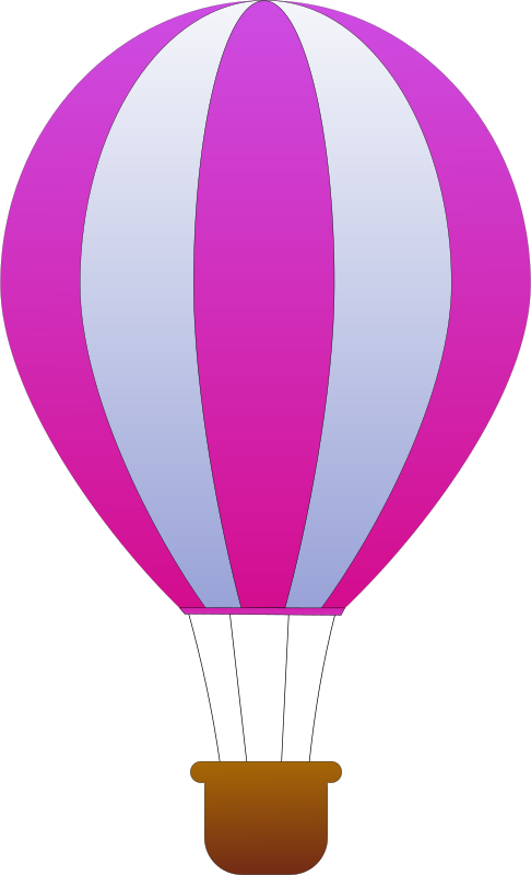 Vertical Striped Hot Air Balloons 3