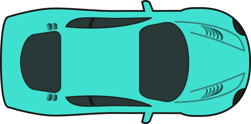 Turquois Racing Car (Top View)