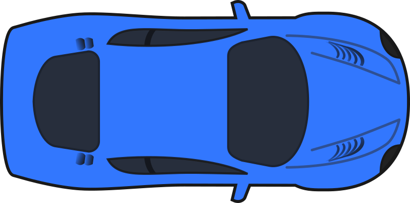 Dark Blue Racing Car (Top View)