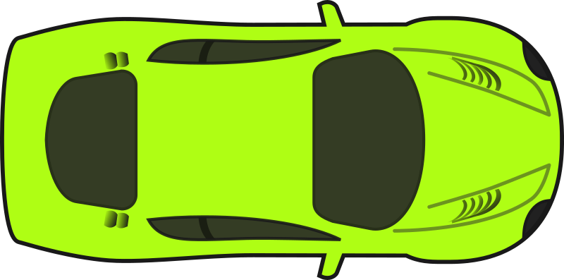Bright Green Racing Car (Top View)