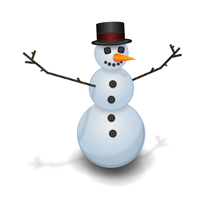 Snow man with hat