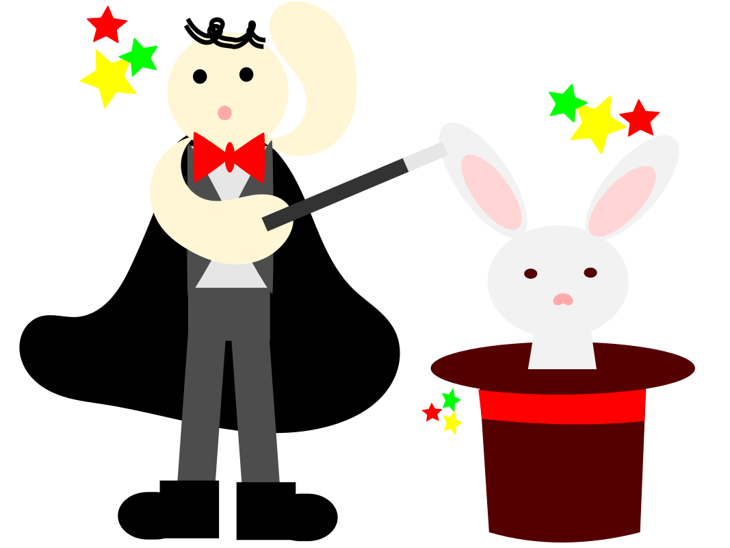 magician with a rabbit in a hat