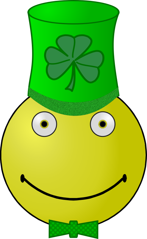 St. Patrick's Day smiley