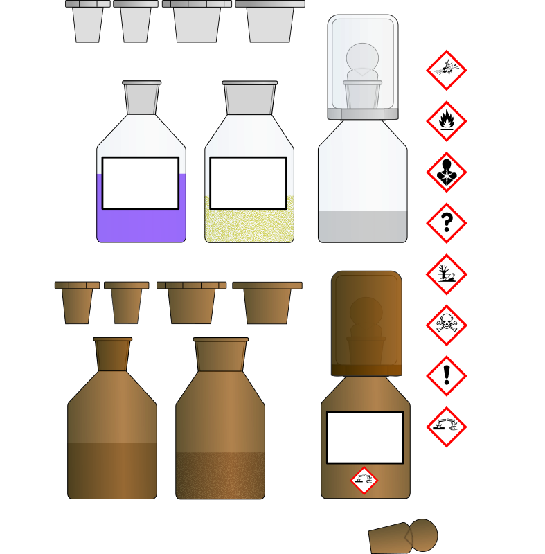 Chemikalien Flaschen/Chemical bottles
