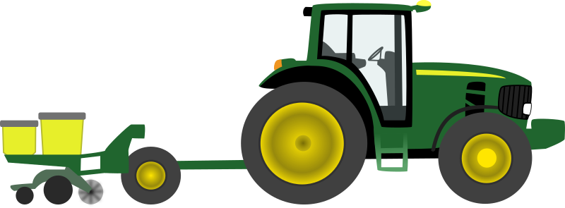 Farm tractor with planter
