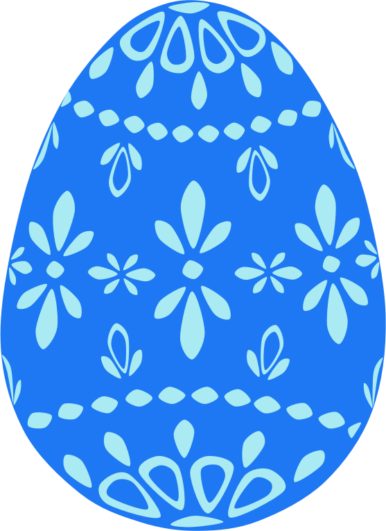 Blue Lace Easter Egg