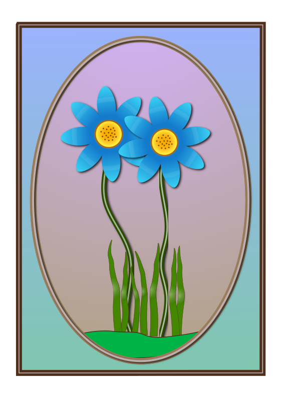 Flowers with Frame