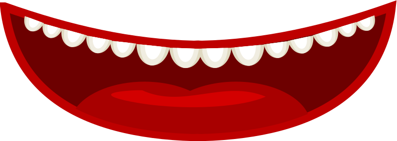 Mouth in a cartoon style