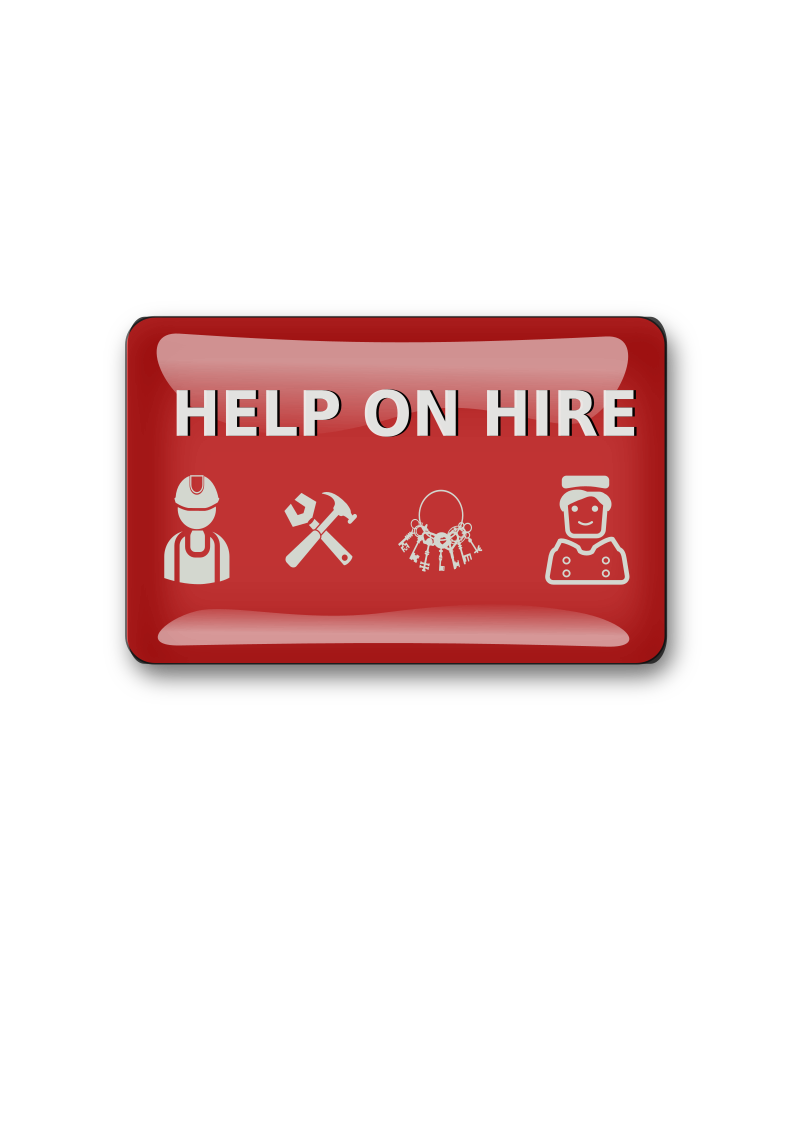 help on hire sign