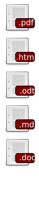 Labeled filetype icons