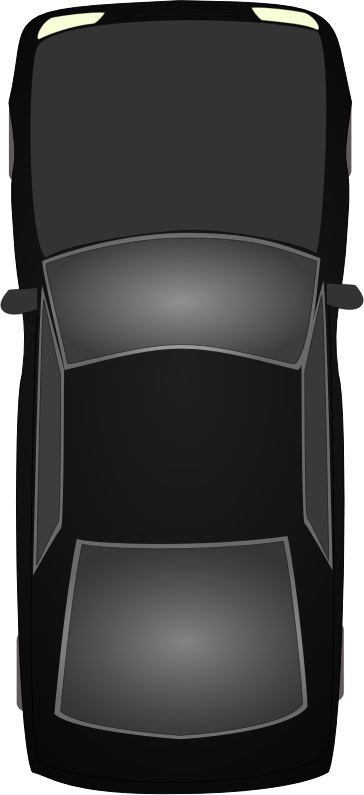 Black car topview
