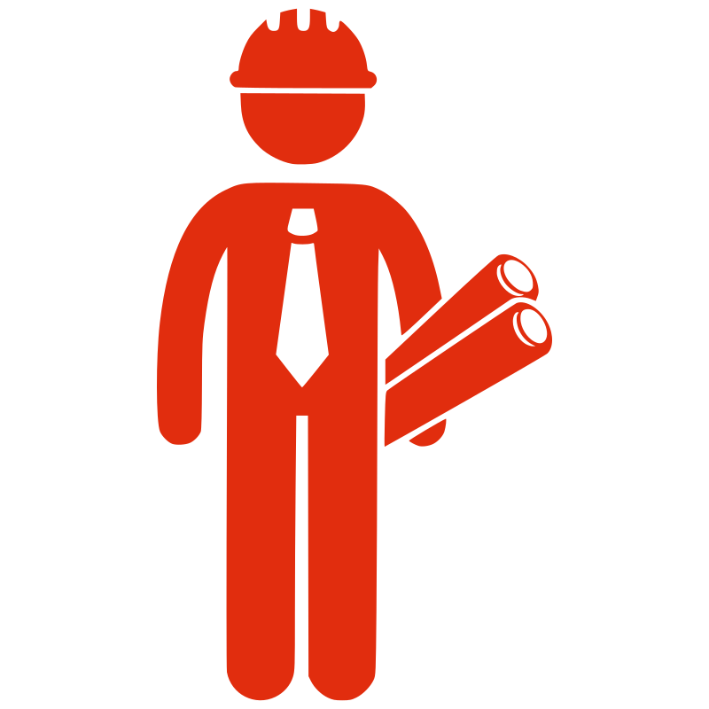 Silhouette Construction Man