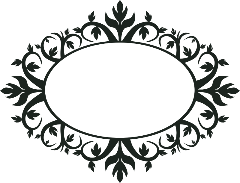 Ornament Oval Frame