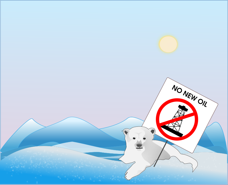 No new oil, says polar bear protestor