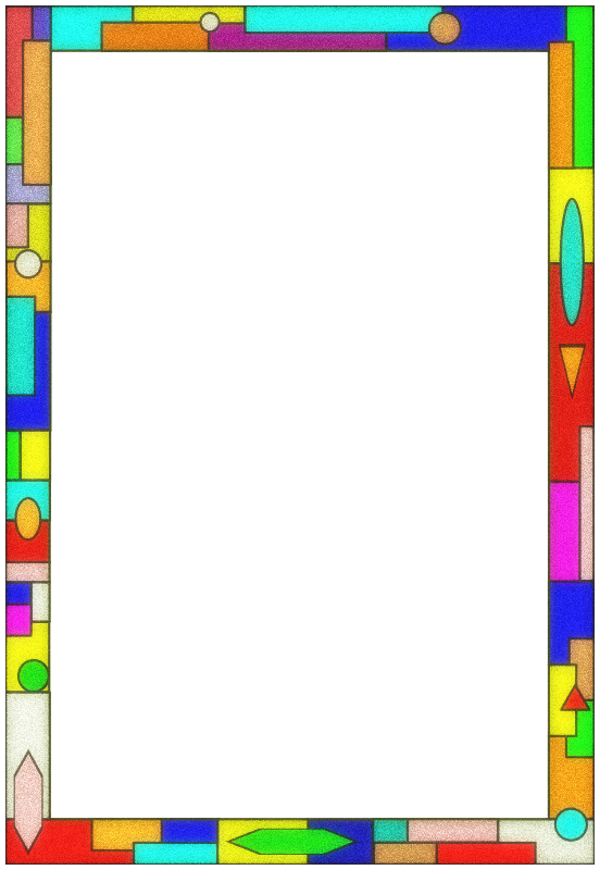 Stained Glass Border 01
