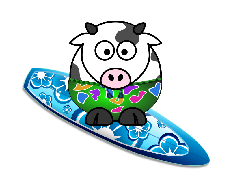 Surfer Cow