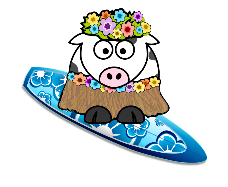 Surfer Girl Cow