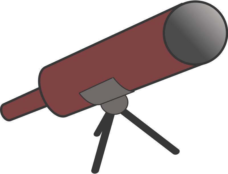 Simple cartoony telescope with tripod