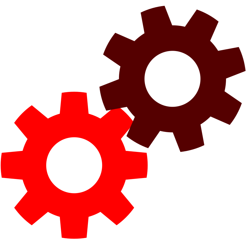 Gears in red