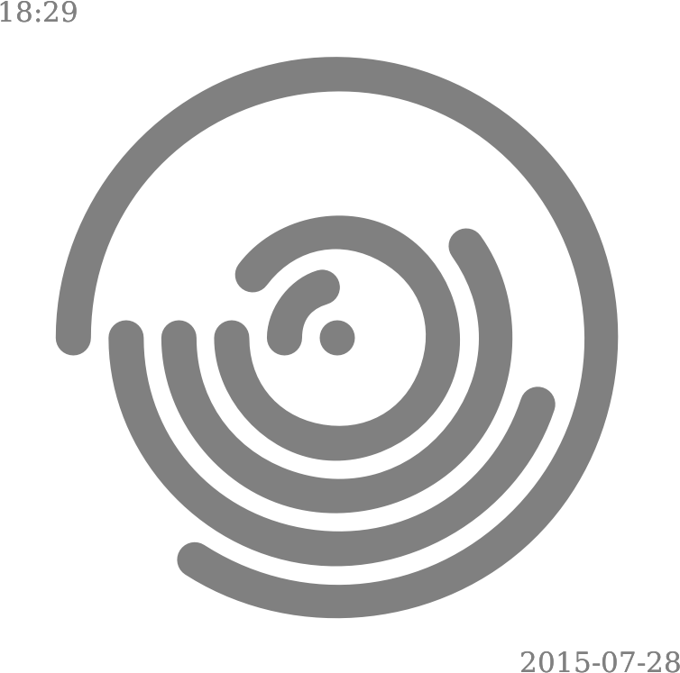 Concentric Loop Clock (1 minute cycle)