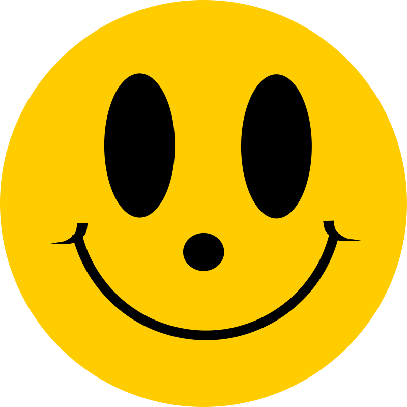 Simple Flat Smiley Face Smile