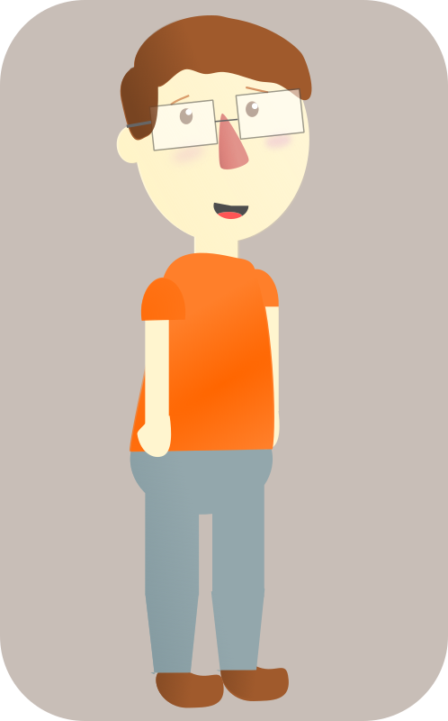 Guy with glasses cartoon