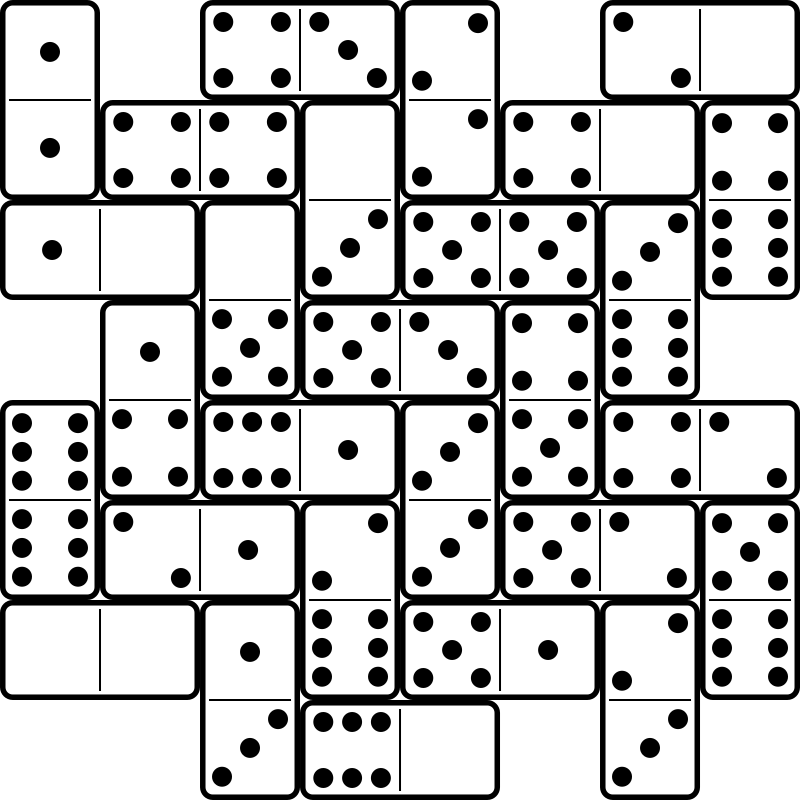 Full Set of Double-Six Dominos