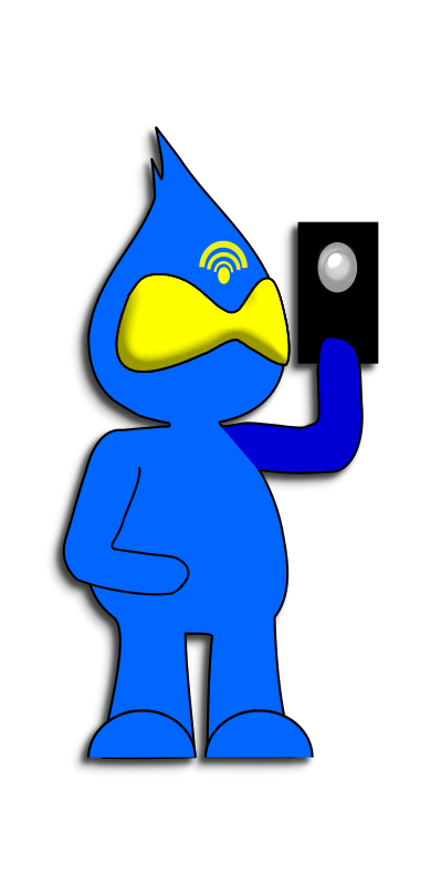 Blue Character Mobile Phone