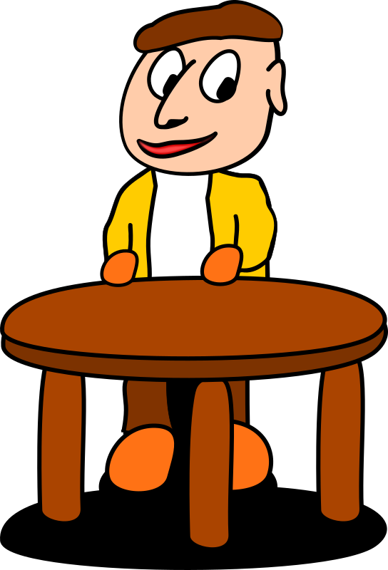 Standing at the table
