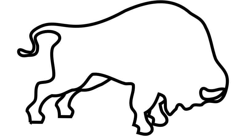 Bucking Bison Outline