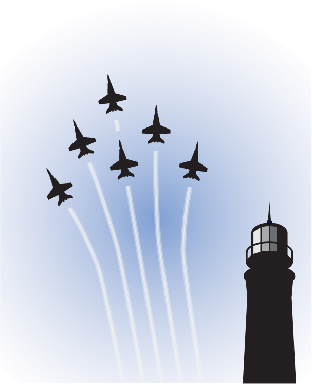 Blue Angels over Lighthouse