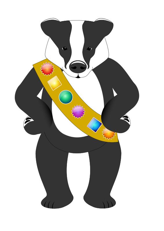 Badge wearing badger
