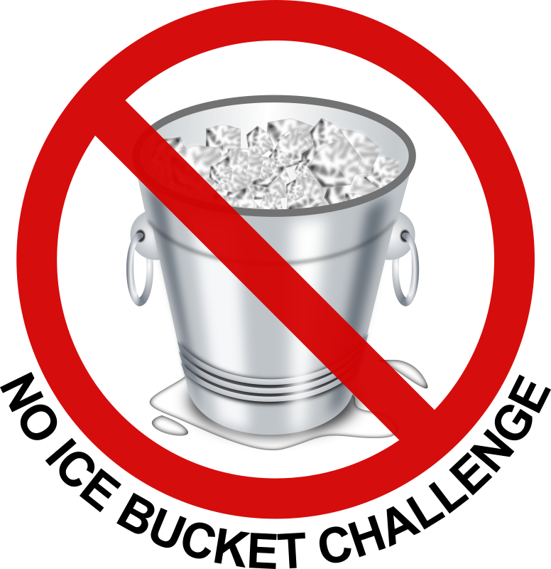no ice bucket challenge