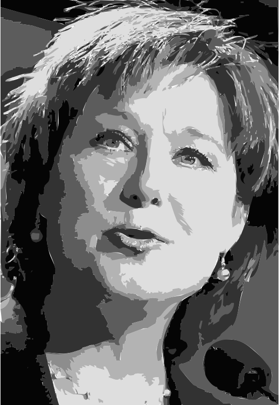 Christy Clark Vectorized
