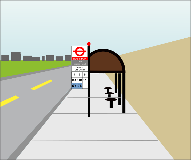 UK-style bus stop