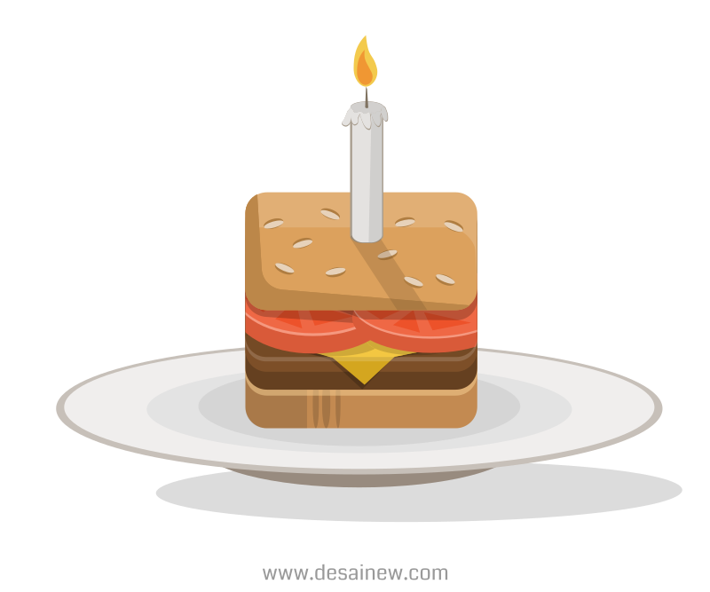 Birthday Burger Vector