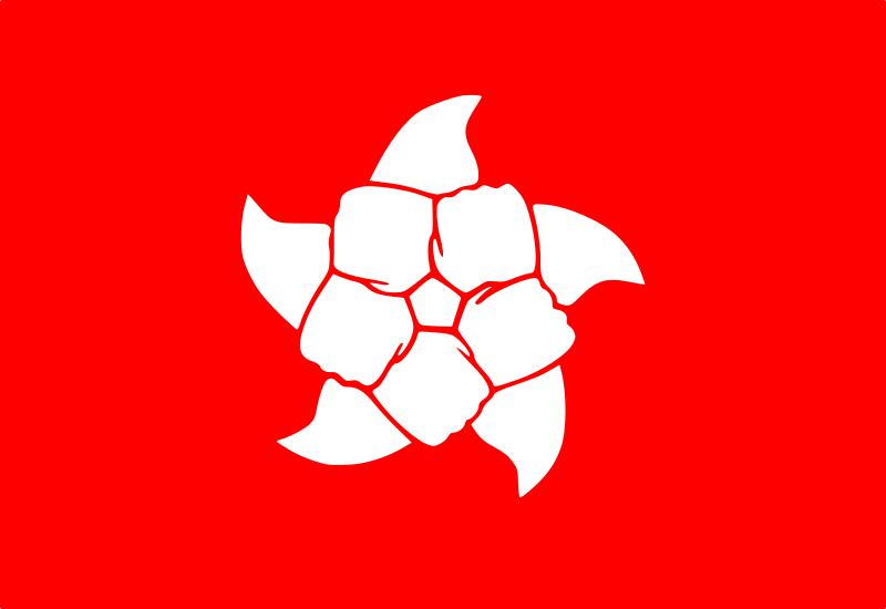 Hong Kong People Flag Rotating