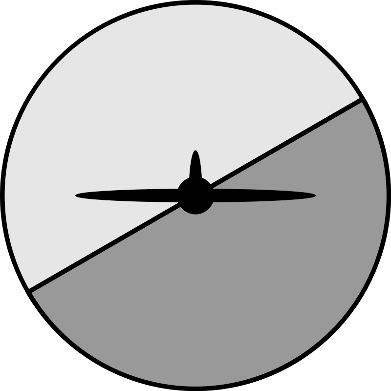 Artificial horizon inside-out